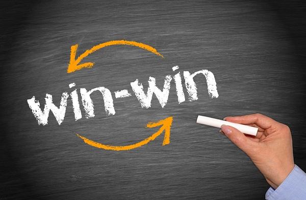 Em uma negociação win-win, ambas as partes devem se sentir satisfeitas e vitoriosas.