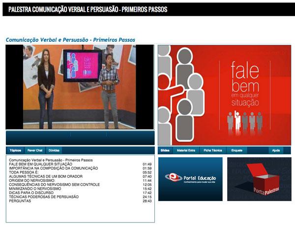 Sala de aula virtual - Portal da Educação