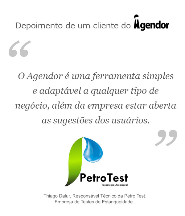 Case de sucesso do Agendor: Petrotest