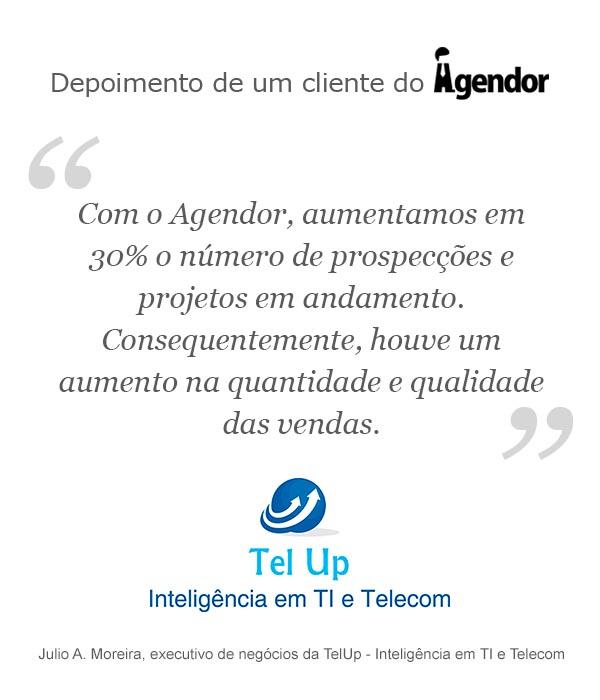Case de sucesso com o Agendor: TelUp